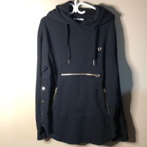 True religion black and gold hardewear hoodie